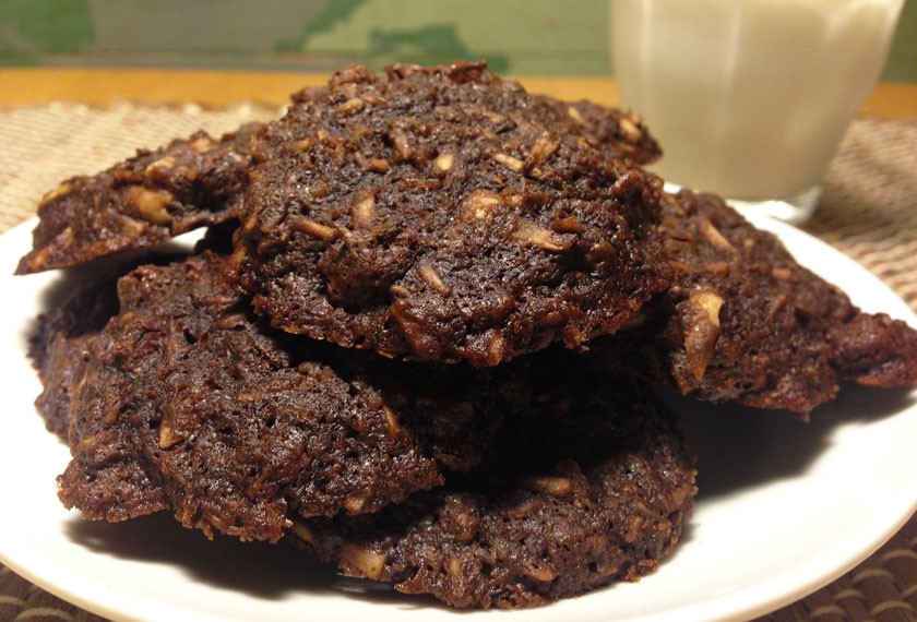 Choco Coco Loco Cookies on a Plate