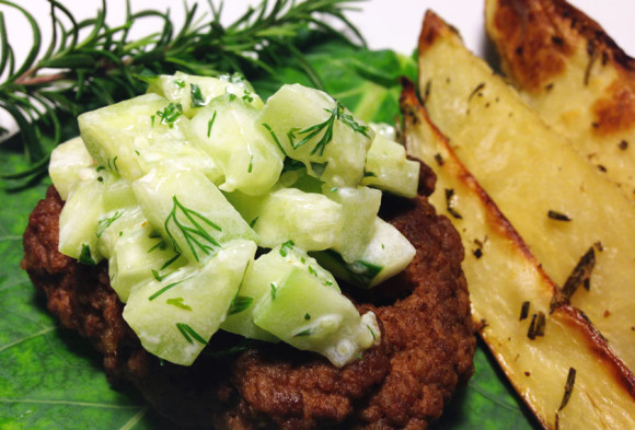 Lamb Burger with Tzatziki Topping