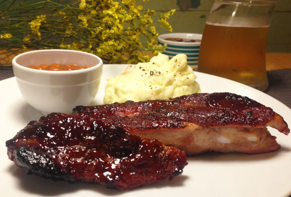 Spareribs with Homemade BBQ Sauce