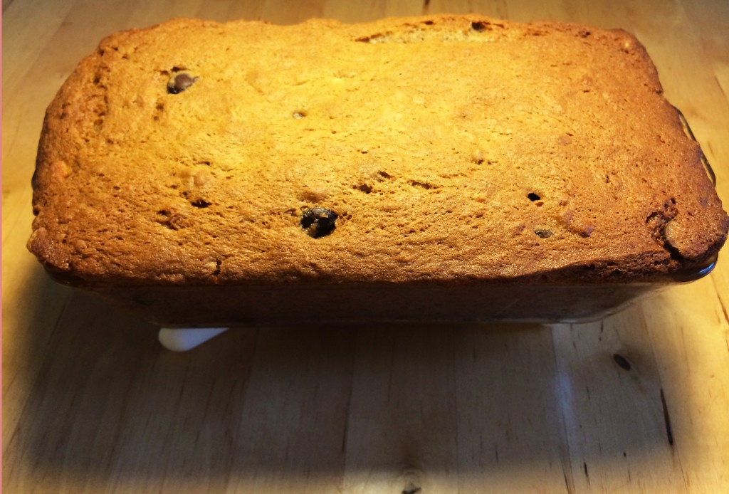 Banana Bread with Chocolate Chips and Walnuts!!